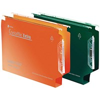 Rexel Crystalfile Extra Lateral File 30mm Orange (Pack of 25)