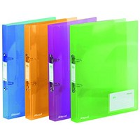 Rexel Ice 2 Ring Binder PP 25mm A4 Assorted (Pack of 10)