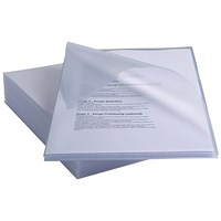 Rexel Anti Slip Cut Flush Folders, High Grip, Clear, Pack of 25