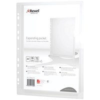 Rexel A4 Expanding Punched Pockets - Pack of 5