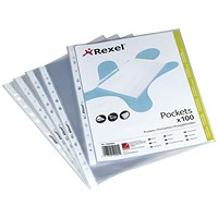 Rexel A5 Premium Punch Pocket - Pack of 100