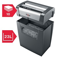 Rexel Momentum X410 Cross Cut Shredder 23 Litres P-4 Ref 2104571
