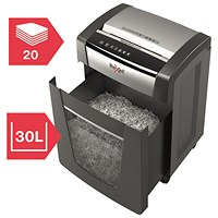 Rexel Momentum X420 Cross-Cut Paper Shredder Black 2104578