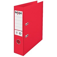 Rexel Choices 75mm Lever Arch File Polypropylene A4 Red