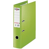 Rexel Choices 75mm Lever Arch File Plastic Foolscap Green