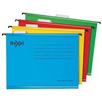 Rexel Classic Suspension Files A4 Assorted (Pack of 10)