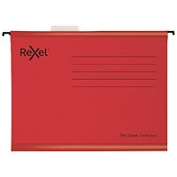Rexel Classic Suspension Files Foolscap Red (Pack of 25)