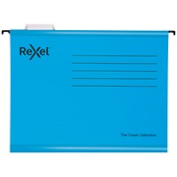 Rexel Classic Suspension Files A4 Blue (Pack of 10)