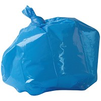2Work Medium Duty Refuse Sack Blue (Pack of 200)
