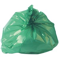 2Work Medium Duty Refuse Sack Green (Pack of 200)