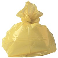 2Work Medium Duty Refuse Sack Yellow (Pack of 200)