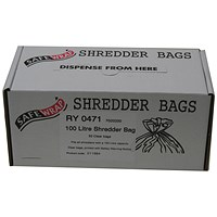 Safewrap Shredder Bags, Capacity 100 Litre, Pack of 50