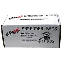 Safewrap Shredder Bags, Capacity 250 Litre, Pack of 50