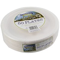 Super Rigid 9 Inch Biodegradable Plate (Pack of 50)