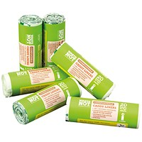 Waste Not Compostable Caddy Liner Bag 20 per Roll (Pack of 6)