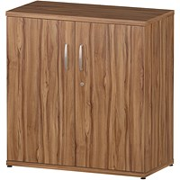 Impulse Low Cupboard - Walnut