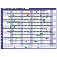 Sasco Magnetic Perpetual Year Planner, Mounted, 915x610mm