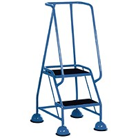 Light Blue 2 Tread Steps (125kg Capacity, W380 x D540 x H1185mm) 385130