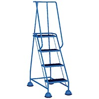 Light Blue 4 Tread Step Ladder (Load capacity: 125kg) 385138