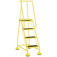 Yellow 4 Tread Step Ladder (Load capacity: 125kg) 385141