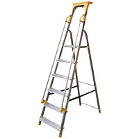 Aluminium Safety Platform Steps 6 Tread 405014