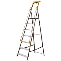 Aluminium Safety Platform Steps 7 Tread 405015