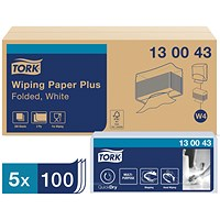 Tork W4 Wiping Paper Plus White 2-Ply 200 Sheets (Pack of 5) 130043