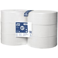 Tork T1 Jumbo Toilet Roll 2-Ply 1700 Sheets (Pack of 6) 110246