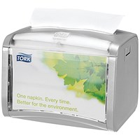 Tork Silver Xpressnap Tabletop Napkin Dispenser