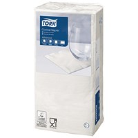 Tork Cocktail Napkins 2-Ply White (Pack of 200)