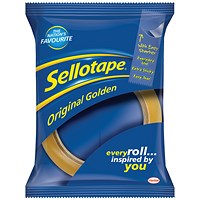 Sellotape Original Golden Tape 24mmx66m (Pack of 6)