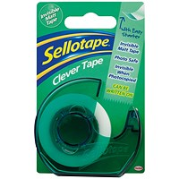 Sellotape Clever Tape and Dispenser 18mmx25m (Pack of 7)