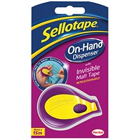 Sellotape On-Hand Dispenser with Tape 18mm x 15m