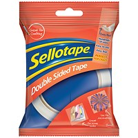 Sellotape Double-sided Tape, 12mm x 33m, Pack of 12