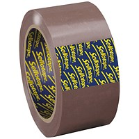 Sellotape Superseal Case Sealing Tape, Polypropylene, 50mmx66m, Buff, Pack of 6