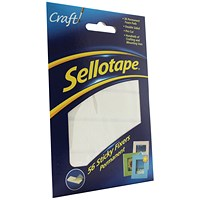 Sellotape Double-sided Sticky Fixers, 12 x 25mm, 56 Pads