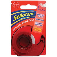 Sellotape Double Sided Tape and Dispenser 15mm x 5m