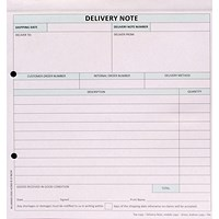 Custom Forms 3-Part Delivery Note White/Pink/Blue (Pack of 50)