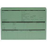 Custom Forms Personnel Wallet, Green (Pack of 50) G351R