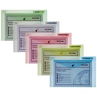 Snopake Foolscap Polyfile Classic Wallet, Assorted, Pack of 5