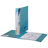Snopake Ring Binder, A4, 2 O-Ring, 25mm Capacity, Blue, Pack of 10