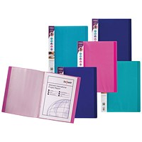 Snopake Electra Display Book 24 Pocket A4 Assorted (Pack of 10)