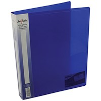Snopake Ring Binder, A4, 2 O-Ring, 25mm Capacity, Electra Blue, Pack of 10