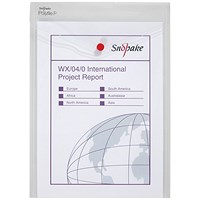 Snopake A4 Polyfile Wallet, Clear, Pack of 5