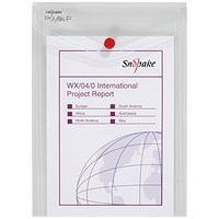 Snopake A5 Polyfile Wallet, Portrait, Clear, Pack of 5