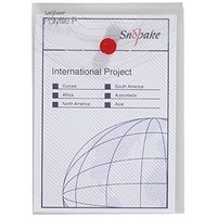 Snopake A6 Polyfile Wallet, Portrait, Clear, Pack of 5