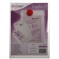 Snopake A7 Polyfile Wallet, Portrait, Clear, Pack of 5