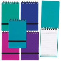 Snopake Noteguard Notebook 76 x 127mm Assorted (Pack of 5)