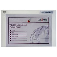 Snopake Foolscap Polyfile Classic Wallet, Clear, Pack of 5