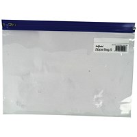 Snopake A4+ Zip Filing Bags, Blue Seal, Pack of 25